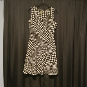 Houndstooth fit n flair dress